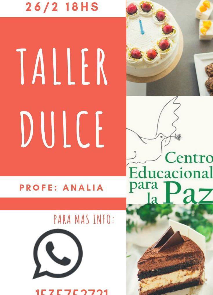 TALLER CREATIVO DULCE!
